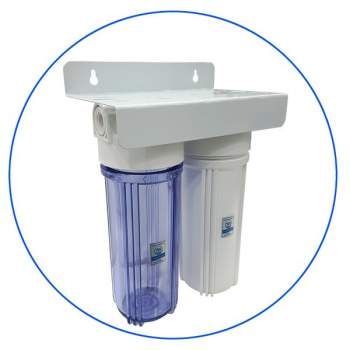 Double Under-Counter Filter Housing 10″ Aqua Pure 2SST