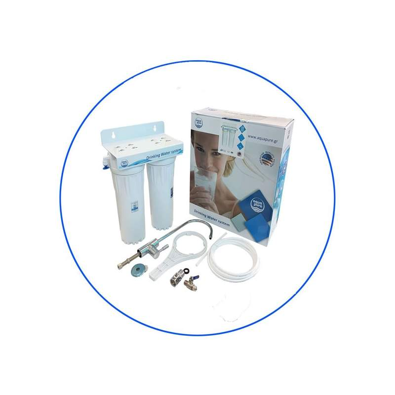 2 Stage Under-Counter Water Filter Housing APDUC 14