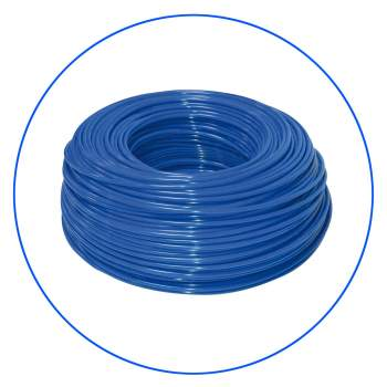 "Polyethylene, blue elastic hose 1/4"" for all water filter and in-line ones"