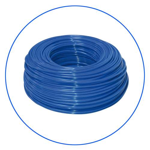"""Polyethylene, blue elastic hose 1/4"""" for all water filter and in-line ones"""