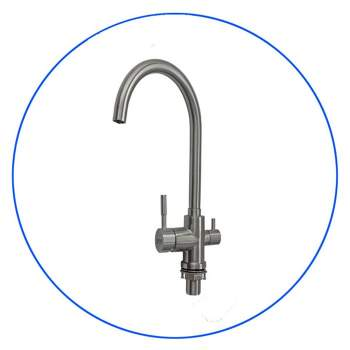 SS304-10 Quadrupole Chrome Plated Water Faucet
