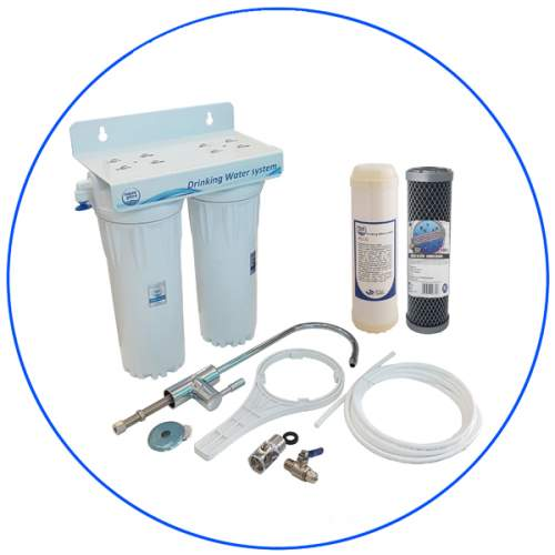 2 stage water filtration system APDUC 14 UFECO