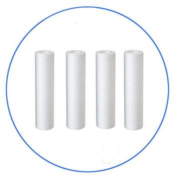Melt-blown PP Sediment filter cartridge 5 micron 10'' set 4 pieeces